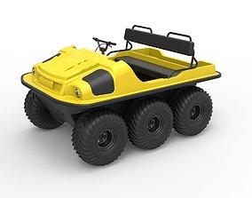 3D model Argo 750 HD 6x6