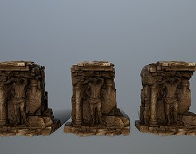 statue 3D model low-poly stone