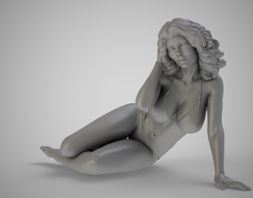 beach 3D printable model Girl on the Beach