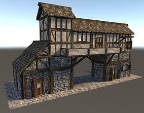 Medieval City House 04 3D asset