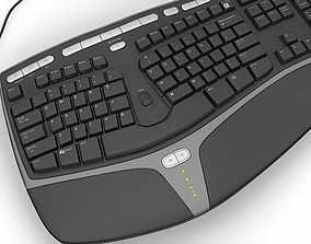Microsoft Ergonomic Keyboard KB4000 3D model
