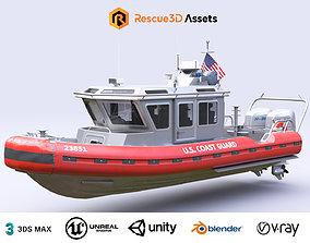 3D asset Coast Guard Rescue Boat