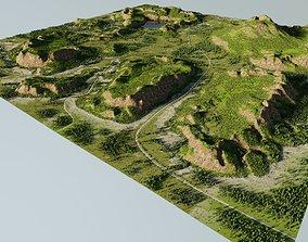 Map002 - lowland in Blender 3D model