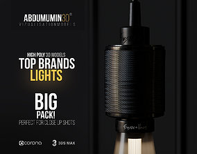3D Top Brand Lights Models - BIG PACK
