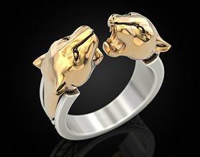 Gemini Leopard ring 3D print model