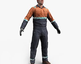 3D model Construction Worker Animated