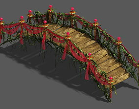 Wedding - wooden bridge 3D