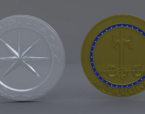 3D model mitsuoka logo