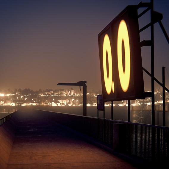 Harbour at night Scene