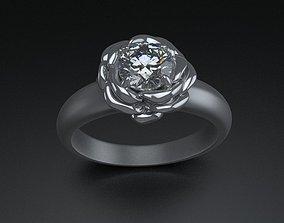 Rose ring 2 print model 3D print model