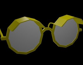 Low poly spectacles 1 3D asset