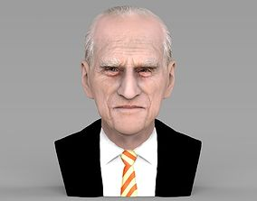 Prince Philip bust ready for full color 3D printing