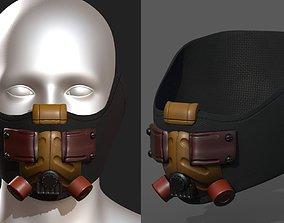 game-ready Gas mask respirator scifi 2