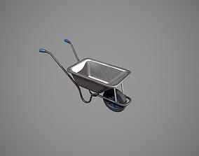Metal-Blue Wheelbarrow 3D asset