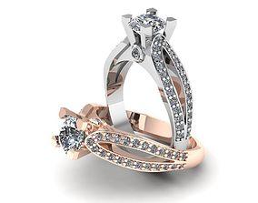 3D printable model Interesting womens ring big stones