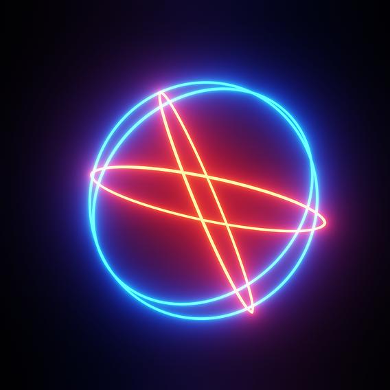 Neon Light Sphere