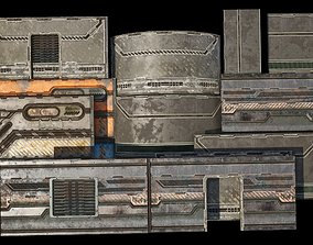3D model Sci-Fi building kit