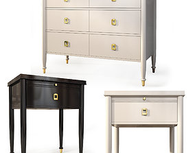3D Dresser nightstand Lacourte by Williams Sonoma