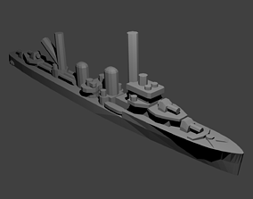 Dutch Admiralen Class Destroyer Warship 3D print model