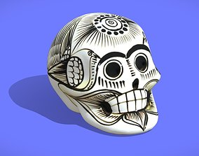 3dscan Painted Skull Souvenir - 3D SCAN
