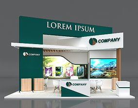 3D model Exhibition Stand Booth Stall 7x5m Height 500cm 2