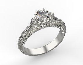 Women ring with diamond 3dm stl