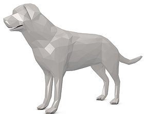 3D asset game-ready Dog Low Poly