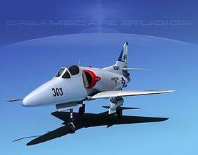 Douglas A-4D Skyhawk V07 USN 3D
