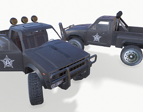 3D asset PickUp Black