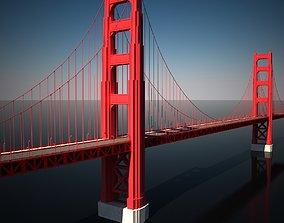 road Golden Gate Bridge 3D model