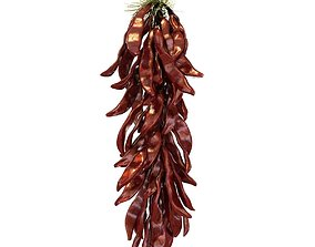 A bundle of red pepper 3D model