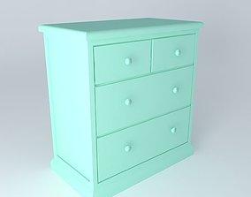 3D model Dresser shelves