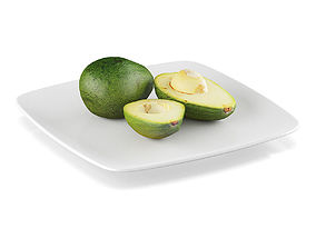 3D model Avocado fruits