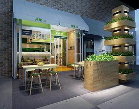 Shop - Refreshments - Coffee Shop 01 3D model