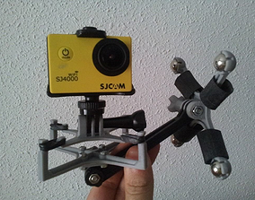 Sport cam magnetic gimbal 3D printable model