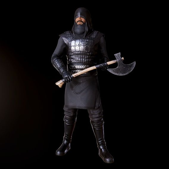 """Low poly Warrior model POSED / Special Project """"Muslim Toys"""""""