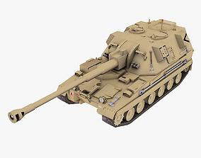 British AS-90 SPGH 3D model