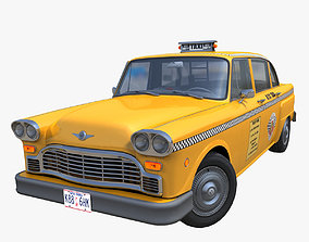 3D model Vintage yellow taxi cab