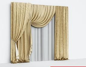 3D Curtains Silk