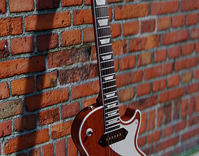 3D asset Low-Poly Les Paul Guitar