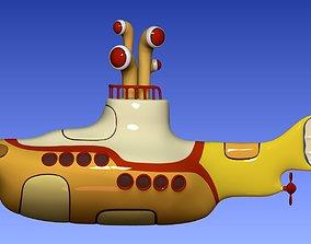 3D printable model Yellow submarine The Beatles