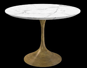 3D asset Aero Marble Dining Table