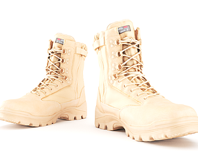 3D model Military boots of color sand 15