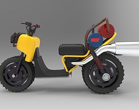 motorcycle 3D model nos