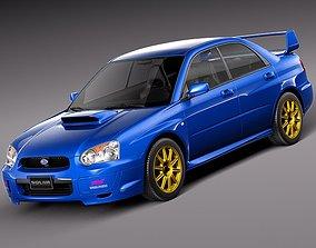 sti 3D Subaru Impreza STi 2003-2005