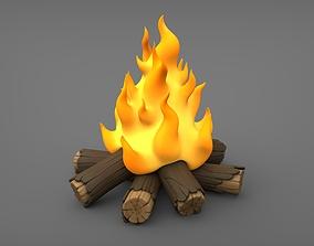 3D printable model Bonfire Cartoon