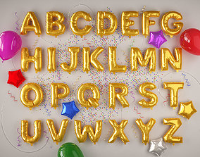 3D model balloons Alphabet