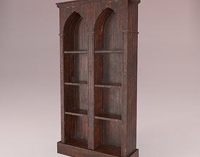 3D asset Old Dusty Bookshelf
