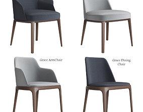 Poliform Sophie and Grace Chair Set 3D