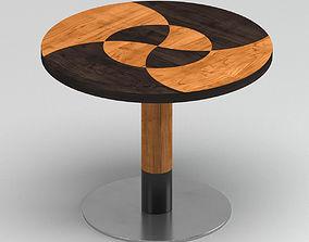 Black & Light Oak Coffee Table 3D model